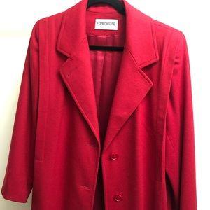 Forecaster of Boston Red Full length Wool Coat